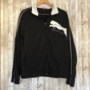 Puma Sport Lifestyle Black Zip Up Men's Sz. M